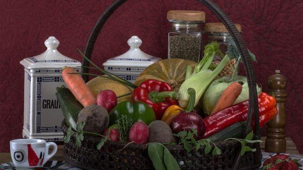 Gemüse gehört bei Vegetariern einfach auf dem Tisch.