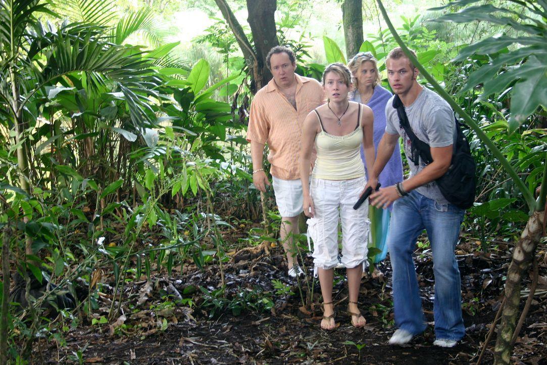 Als ihr Verlobter spurlos verschwindet, überredet Liz (Jewel Staite, 2.v.l.) ihre Freunde Jake (Kellan Lutz, r.), Lauren (Nikki Griffin, 2.v.r.) und... - Bildquelle: Voltage Pictures