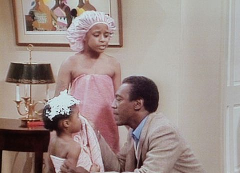 Bill Cosby Show - Denise hat Vanessa (Tempsett Bledsoe, M.) und Rudy (Keshia...