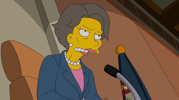 Die Simpsons - Die Abgeordnete Maxine hat ein großes Problem mit Fracking - s...