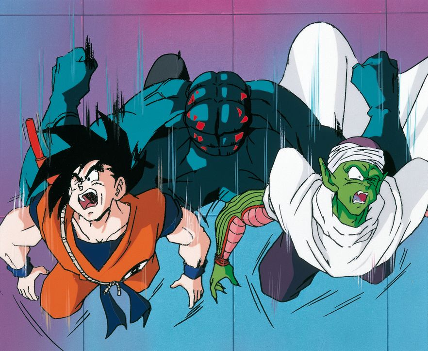 (v.l.n.r.) Son Goku; Piccolo - Bildquelle: 1989 TOEI ANIMATION CO., LTD