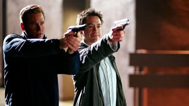 Nehmen ihre Gegner ins Visier: Dumm nur für Harry (Robert Downey Jr., r.) und...