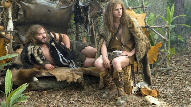 Kaum beschäftigen sich die Steinzeit-Typen Zed (Jack Black, l.) und Oh (Micha...
