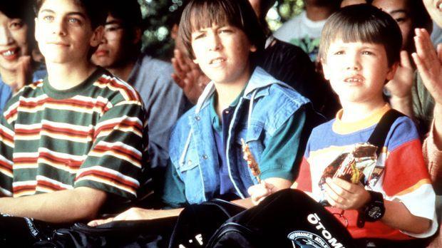 Die drei Ninja-Kids Rocky (Sean Fox, l.), Colt (Max Elliott Slade, M.) und Tu...