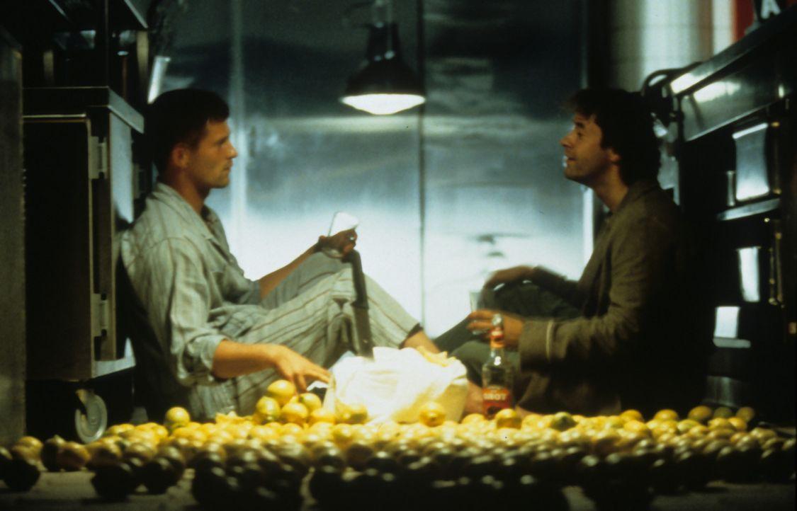 """Rudi Wurlitzer (Jan Josef Liefers, r.) hat Knochenkrebs. In der """"Abnippelstation"""" eines Krankenhauses trifft er auf Martin Brest (Til Schweiger, l.)... - Bildquelle: Buena Vista International"""