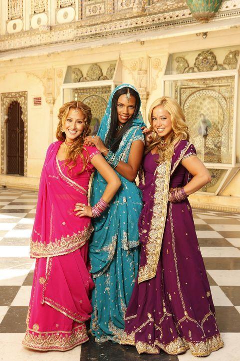 Hoffen, die Hauptrollen in dem neuen Bollywood-Film ergattern zu können: die Cheetah Girls (v. l. n. r. Adrienne Bailon, Kiely Williams, Sabrina Bry... - Bildquelle: Disney - ABC - ESPN Television