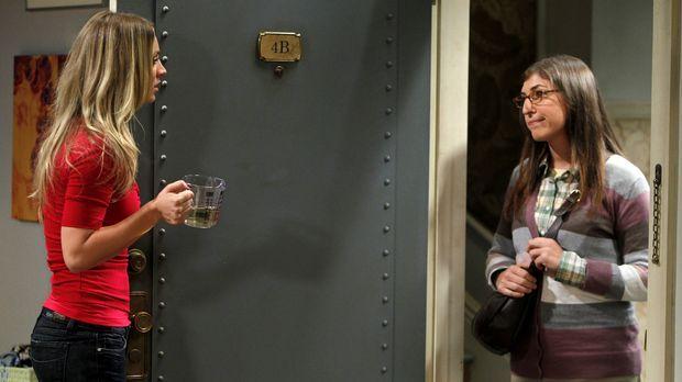 Nach der Nacht mit Raj kann Penny (Kaley Cuoco, l.) ihren Freunden nicht mehr...