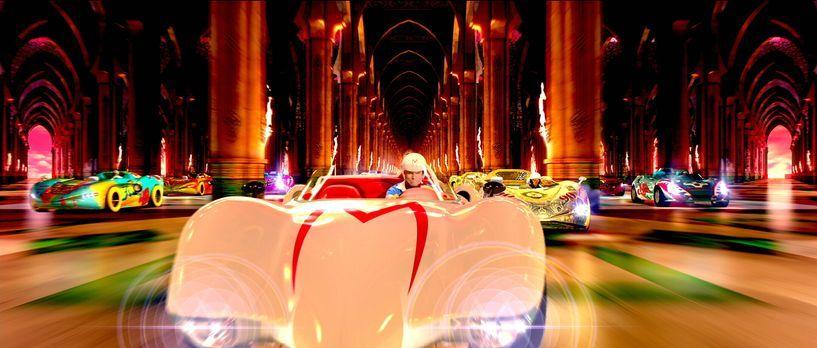 Speed Racer - Mit halsbrecherischem Tempo fegt er über die Piste, umgeht die...