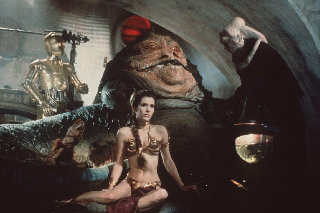 Prinzessin Leia (Carrie Fisher) gerät in die Gefangenschaft von Jabba the Hutt ... - Bildquelle: Lucasfilm LTD. & TM. All Rights Reserved.