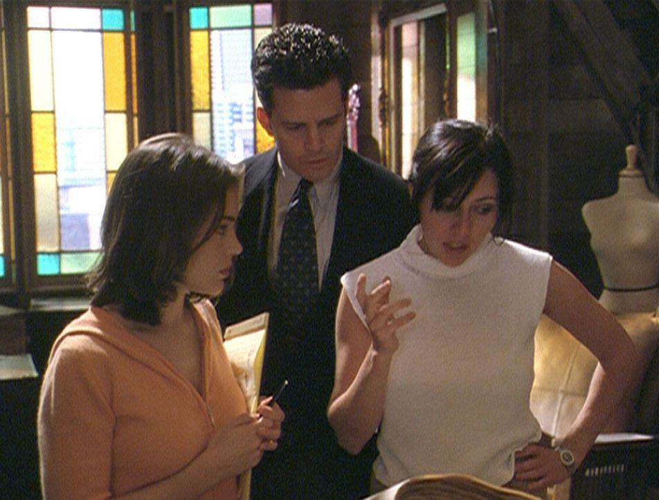Andy Trudeau (T.W. King) sucht Rat bei Prue (Shannen Doherty, r.) und Phoebe (Alyssa Milano). Eine Reihe rätselhafter Morde ist geschehen. Alles de... - Bildquelle: Paramount Pictures