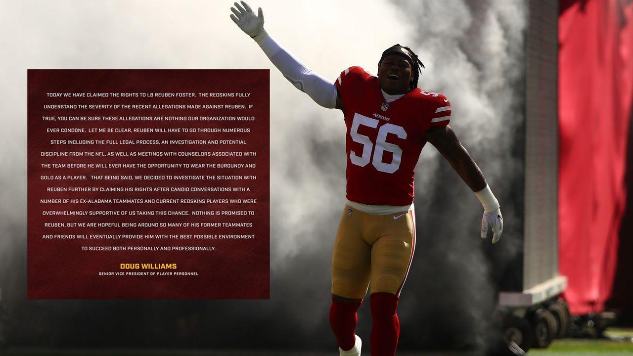 Reuben Foster (Washington Redskins) - Bildquelle: Getty Images
