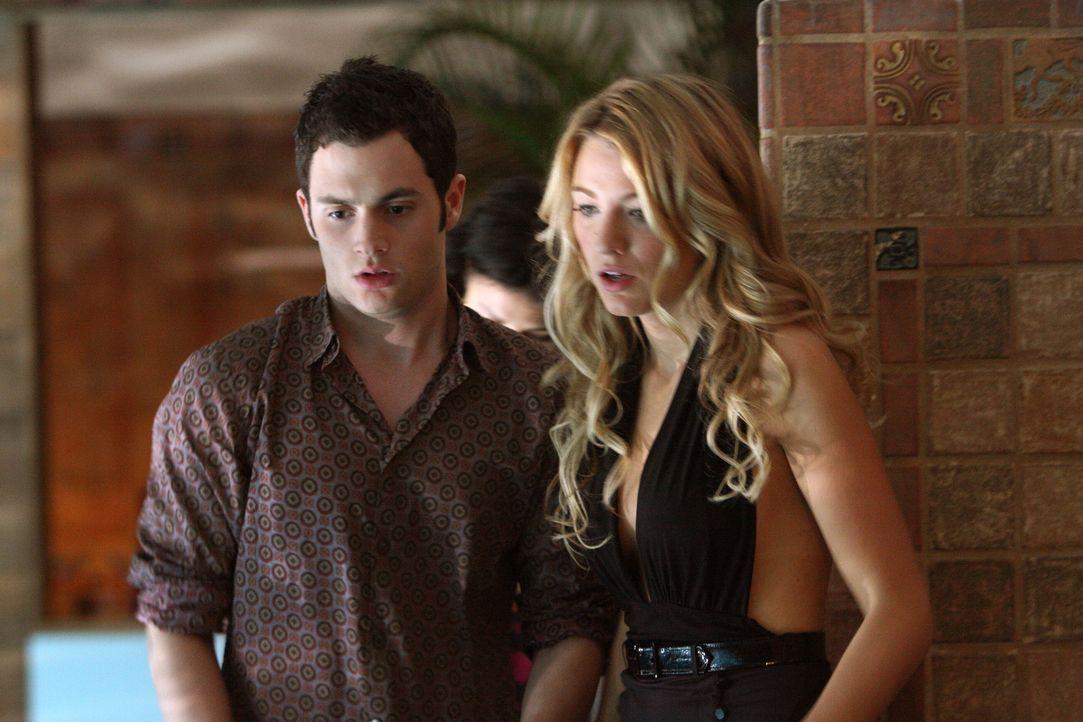 Dan (Penn Badgley, l.) und Serena (Blake Lively, r.) sind schockiert: Der Spaß fordert beinahe ein Opfer ... - Bildquelle: Warner Brothers