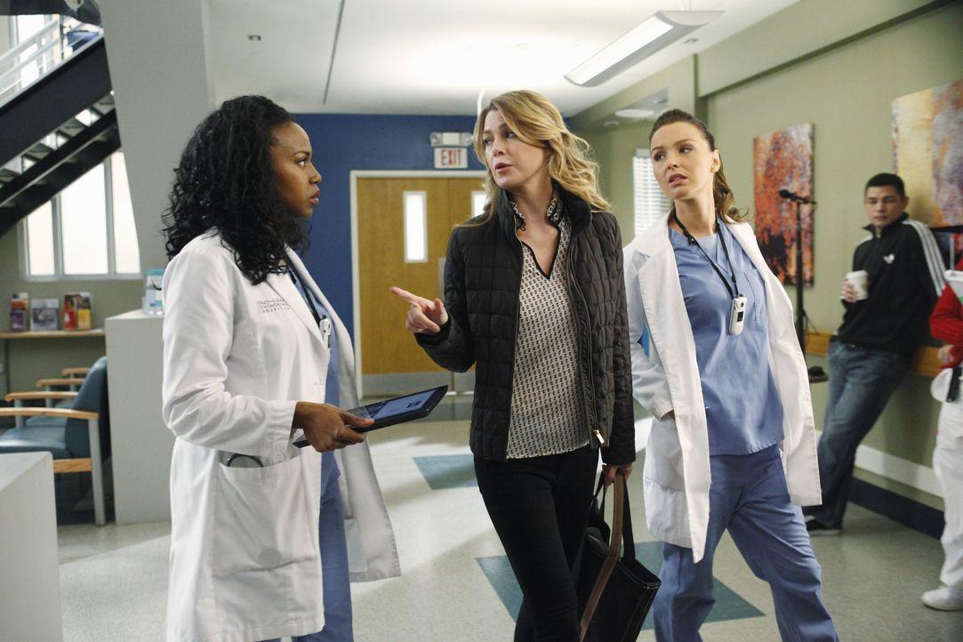 Während Meredith (Ellen Pompeo, M.) die Thanksgiving-Festivitäten bei sich zu Hause plant, haben Stephanie (Jerrika Hinton, l.) und Jo (Camilla Ludd... - Bildquelle: ABC Studios