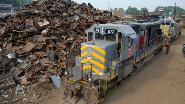 Recycling XXL: Die Firma National Railway Equipment Company in Mt. Vernon, Il...