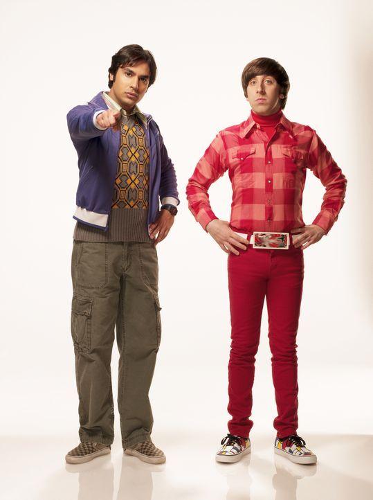 (4. Staffel) - Sind sich nicht immer einig: Howard (Simon Helberg, r.) und Rajesh (Kunal Nayyar, l.) ... - Bildquelle: Warner Bros. Television