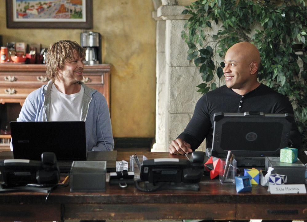 Eric hat mitbekommen, dass sein Freund, der ein begnadeter Hacker ist, während eines Onlinespiels angegriffen wurde. Beunruhigt durch diesen Hinweis... - Bildquelle: CBS Studios Inc. All Rights Reserved.