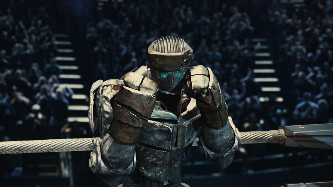 Notdürftig setzen Bailey und Max den alten Roboter vom Schrottplatz, Atom genannt, instand. Als dieser menschliche Bewegungen imitiert, wird deutlic... - Bildquelle: Greg Williams, Melissa Moseley DREAMWORKS STUDIOS.  All rights reserved