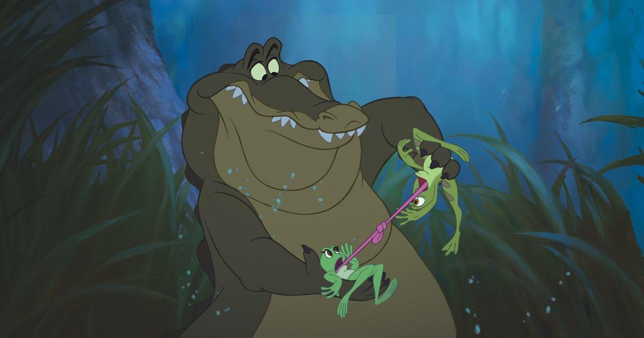 Zwischen Prinz Naveen (r.) und Tiana (M.) kommt es immer wieder zu Kabbeleien. Dennoch versuchen sich die beiden, mit der Situation zu arrangieren u... - Bildquelle: Walt Disney Pictures.  All Rights Reserved.