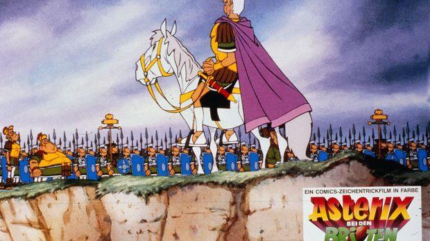In voller Kampfstärke tritt eine römische Legion in Britannien vor ihren erfo...
