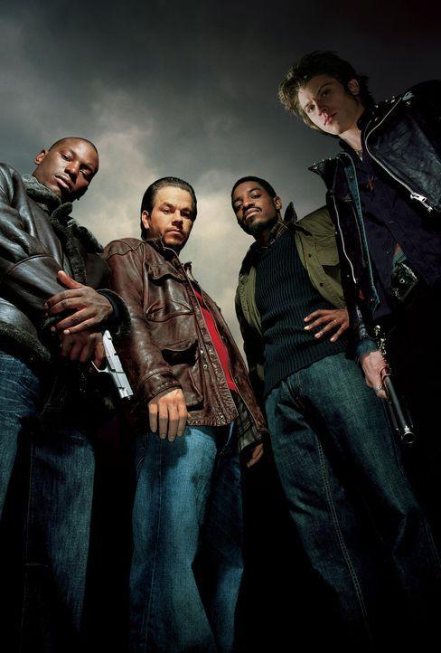 Vier Brüder - Artwork - mit (v.l.n.r.) Tyrese Gibson, Mark Wahlberg, Andre Benjamin, Garrett Hedlund - Bildquelle: TM &   2006 Paramount Pictures. All Rights Reserved.