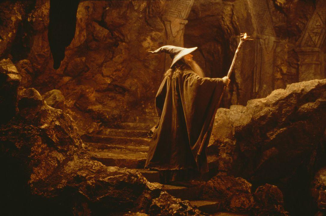 Der Zauberer Gandalf (Ian McKellen) findet das Geheimnis des Ringes heraus. Er und seine Gefährten müssen sich vor dem dunklen Herrscher Sauron in S... - Bildquelle: Warner Brothers