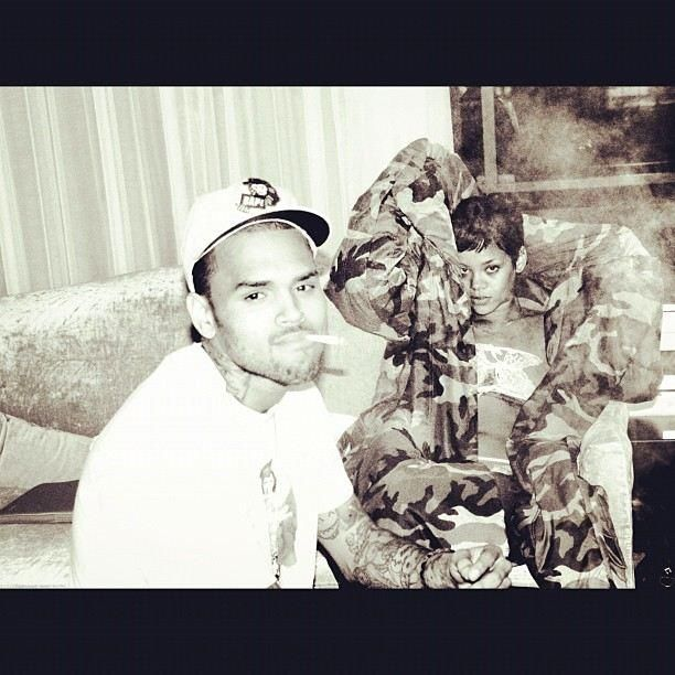 Chris-Brown-Rihanna-Instagram-Dez-2012 - Bildquelle: Twitter