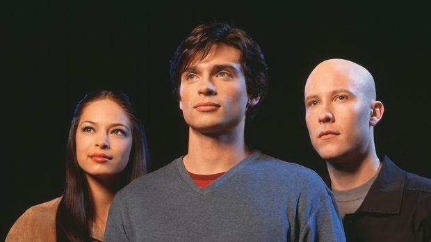 Smallville - (1. Staffel) - Werden Lana (Kristin Kreuk, l.) und Lex (Michael...