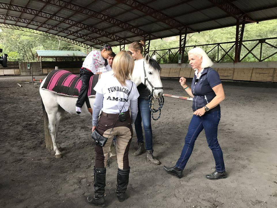 In Ecuador besucht Carmen (r.) ein Reittherapiezentrum ... - Bildquelle: kabel eins