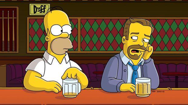 Aus Geldmangel lässt sich Homer (l.) auf eine Fernseh-Reality-Show ein und ta...
