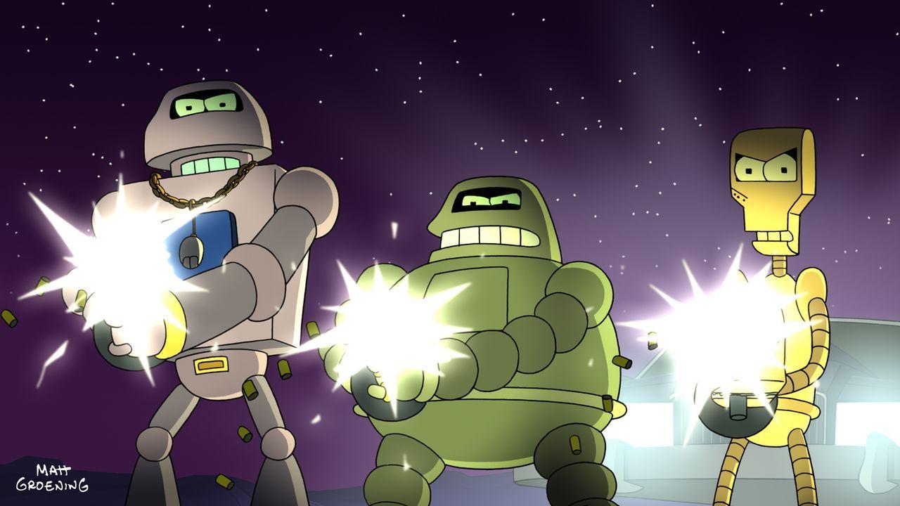 Sollte Bender das Turnier gewinnen, werden sie ihm die Hölle heiß machen: (v.l.n.r.) Joey, Donbot und Klemmer ... - Bildquelle: 2009 Twentieth Century Fox Film Corporation. All rights reserved.