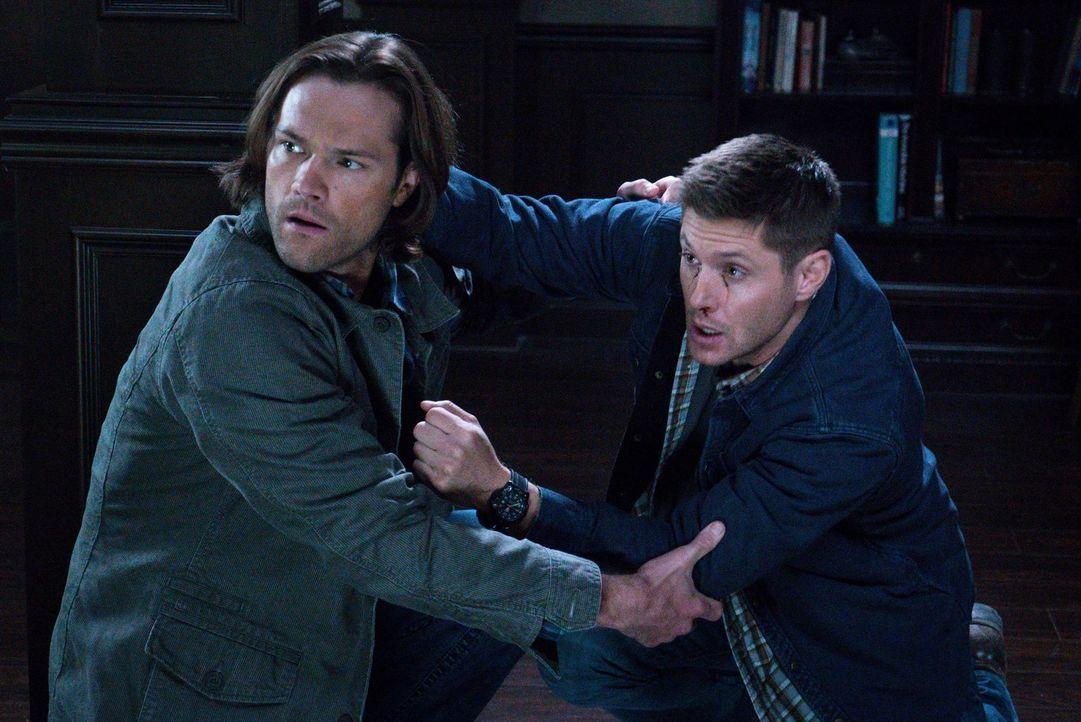 Als immer wieder Menschen auf grausame Weise sterben, begeben sich Sam (Jared Padalecki, l.) und Dean (Jensen Ackles, r.) auf Spurensuche und gerate... - Bildquelle: 2014 Warner Brothers
