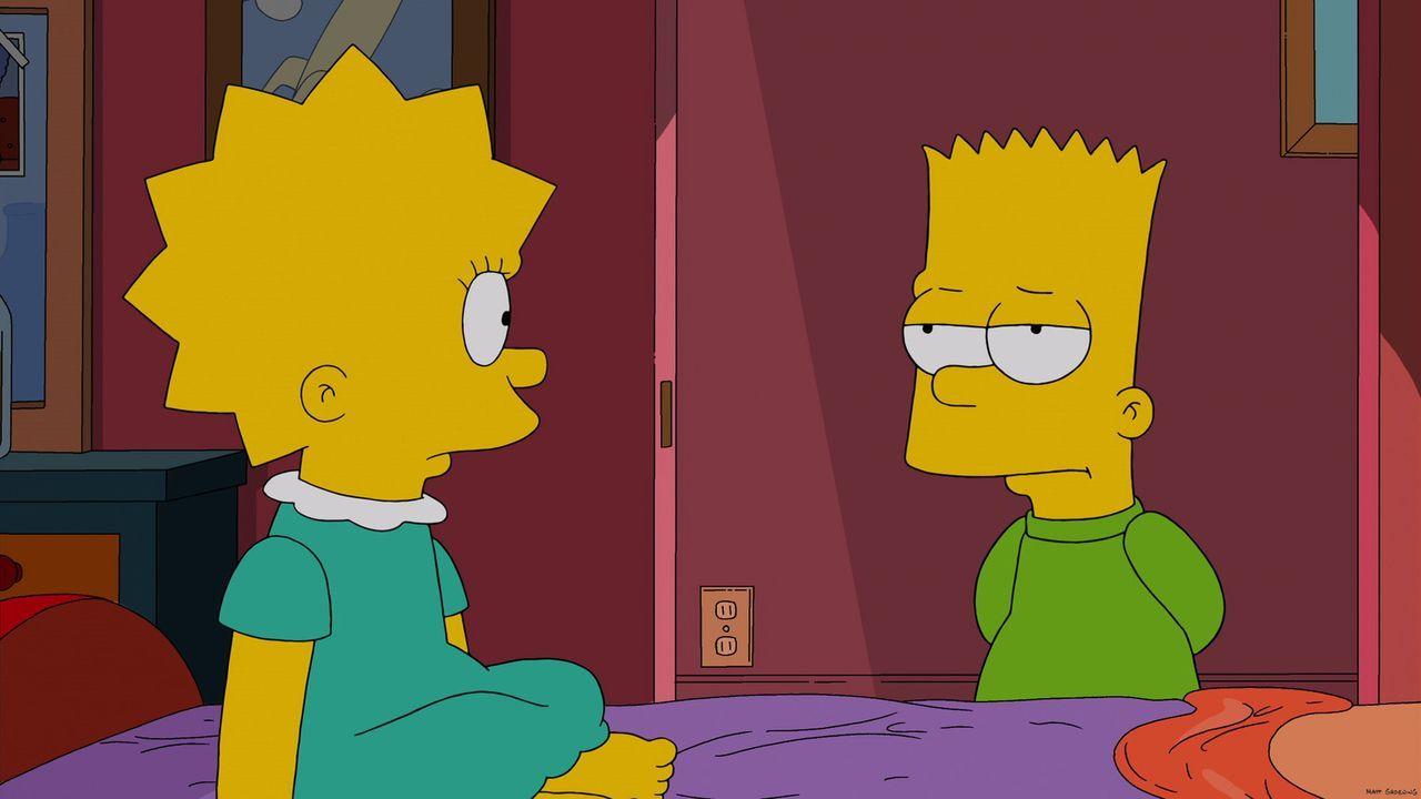 Sind sich nicht immer einig: Bart (r.) und Lisa (l.) ... - Bildquelle: 2013 Twentieth Century Fox Film Corporation. All rights reserved.
