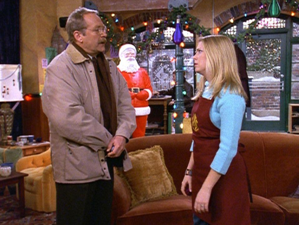 Mr. Kraft (Martin Mull, l.) erfährt, dass Sabrina (Melissa Joan Hart, r.) über die Feiertage nach Jamaica fährt. - Bildquelle: Paramount Pictures