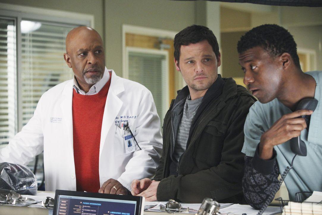 Stress in der Notaufnahme: Richard (James Pickens, Jr., l.), Alex (Justin Chambers, M.) und Pfleger Tyler (Moe Irvin, r.) ... - Bildquelle: ABC Studios