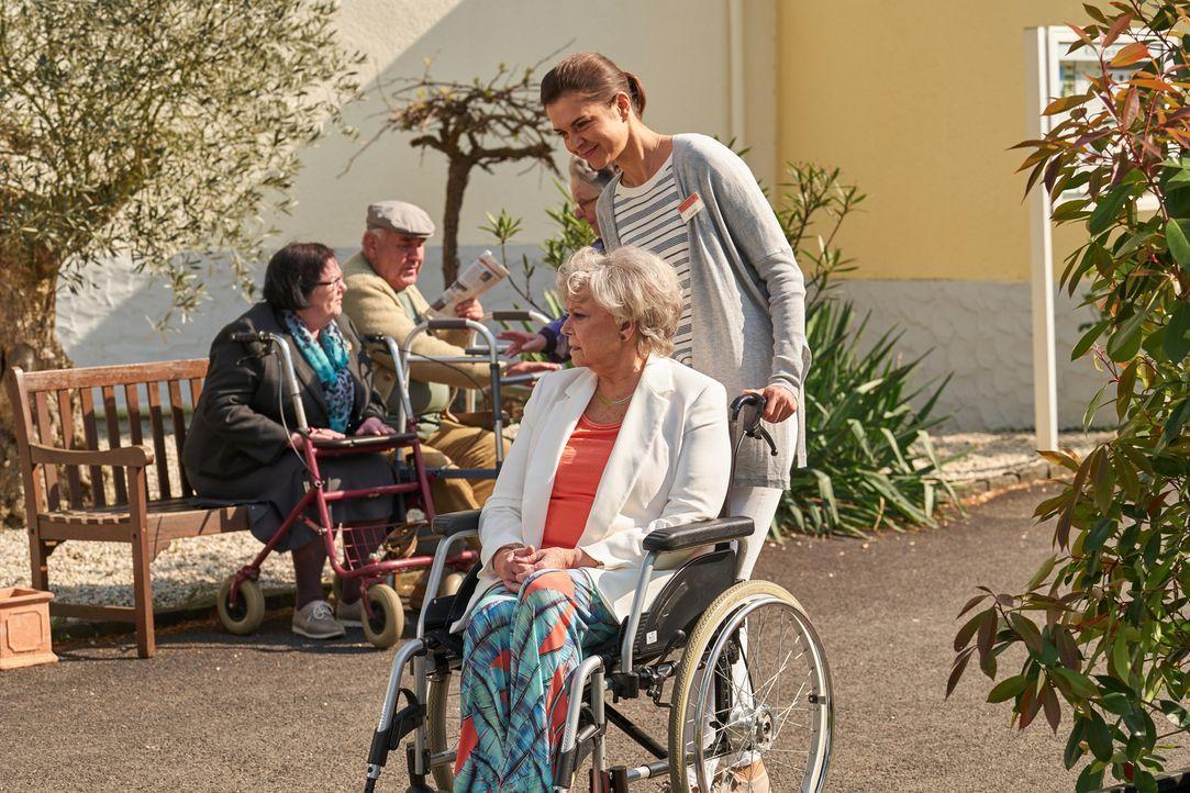 Carolin (Susan Hoecke, r.) ist mit Leib und Seele Altenpflegerin, obwohl ihr Chef alles versucht, ihr den Job madig zu machen. Mit liebevoller Fürso... - Bildquelle: Frank Dicks SAT.1