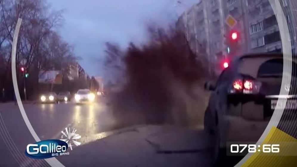 Straßenexplosion