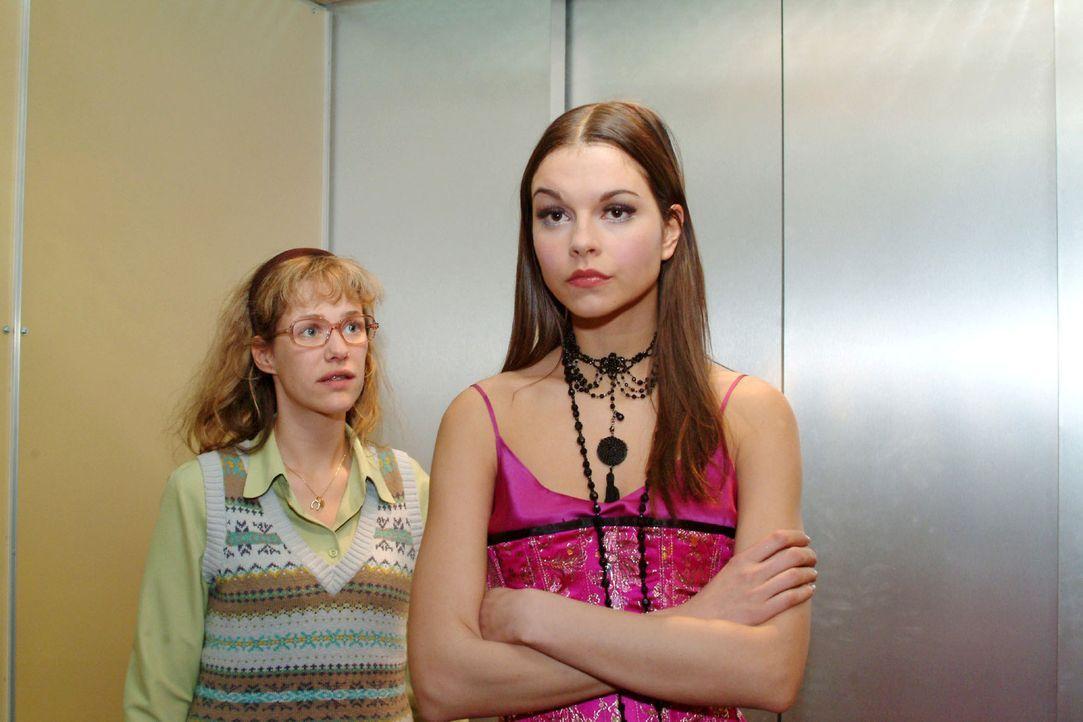 Durch Richards Bemerkungen über Davids angebliche Unzuverlässigkeit verunsichert, verlässt Magdalena (Susan Hoecke, r.) die Präsentation. Lisa (... - Bildquelle: Sat.1