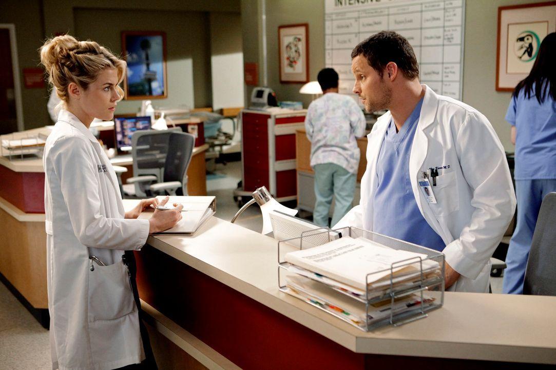 Ihre Beziehung wird auf eine harte Probe gestellt: Alex (Justin Chambers, r.) und Lucy (Rachael Taylor, l.) ... - Bildquelle: ABC Studios