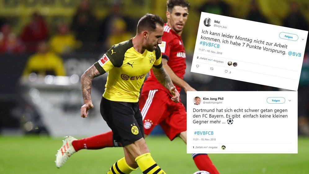 Die Reaktionen auf den Dortmunder 3:2-Sieg gegen Bayern München im deutschen... - Bildquelle: Getty Images/twitter@realkimjongphil/twitter@bnjm_bck