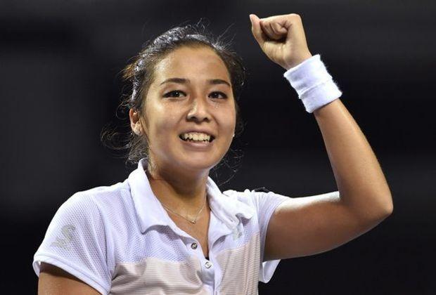 Jubel über ihren ersten Turniersieg: Sarina Dijas