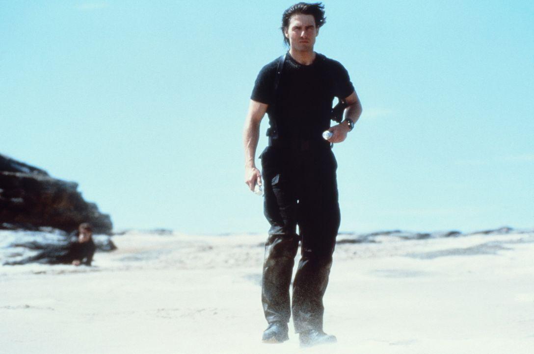 Es kommt, wie es kommen muss: Zwischen dem Superspion Ethan Hunt (Tom Cruise) und dem Terroristen kommt es nach vielen Schusswechseln zum finalen Sh... - Bildquelle: Paramount Pictures