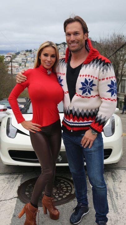"""""""Mehr is more!"""" - das ist das Credo der Yottas. Die Reality-Doku begleitet Unternehmer Bastian Yotta (r.) und Freundin Maria (l.) auf einem Roadtrip... - Bildquelle: ProSieben"""