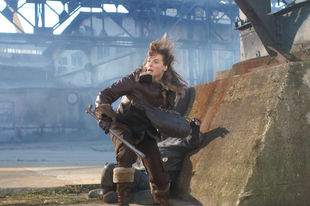 Beim Kampf auf dem abgelegenen Dock entwickelt Anna (Thekla Reuten) übernatürliche Kräfte ... - Bildquelle: Lions Gate Films