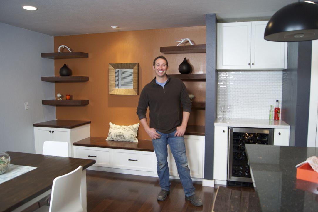 Überrascht verzweifelte Handwerker: Josh Temple ... - Bildquelle: 2012, DIY Network/Scripps Networks, LLC.  All Rights Reserved.