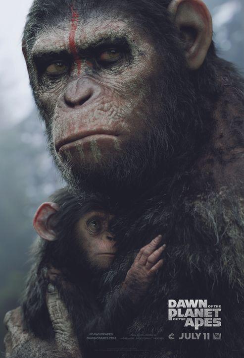 PLANET DER AFFEN: REVOLUTION - Plakat - Bildquelle: 2014 Twentieth Century Fox Film Corporation.  All rights reserved.