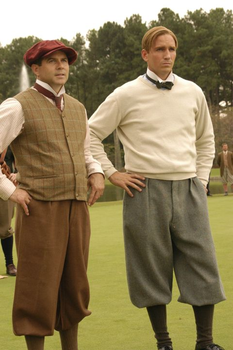 Bobby Jones (James Caviezel, r.) und sein Caddy (Robert E. Daniel, l.) vollbringen ein wahres Wunder ... - Bildquelle: 2003 Bobby Jones Film, LLC. All Rights Reserved.