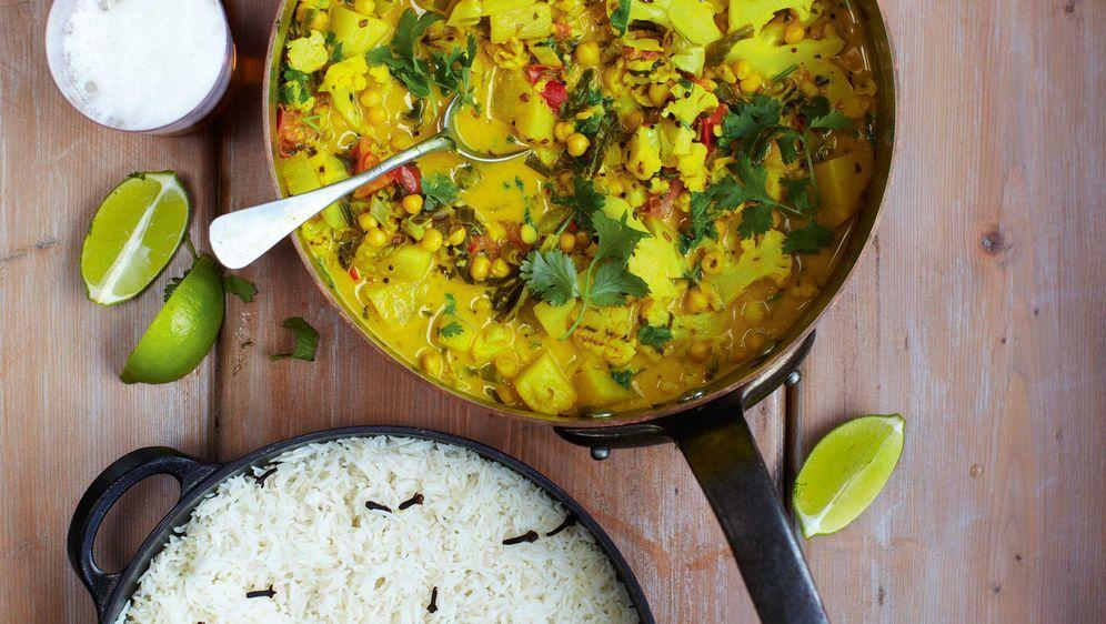 Gemüsecurry Mit Reis Das Rezept Von Jamie Oliver