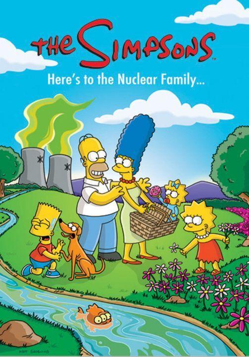 (17. Staffel) - Die chaotische Familie Simpson: Marge (M.), Homer (2.v.l.), Lisa (r.), Bart (l.), Maggie (2.v.r.) ... - Bildquelle: und TM Twentieth Century Fox Film Corporation - Alle Rechte vorbehalten