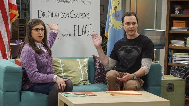 Sheldon (Jim Parsons, r.) und Amy (Mayim Bialik, l.) müssen die aktuelle YouT...