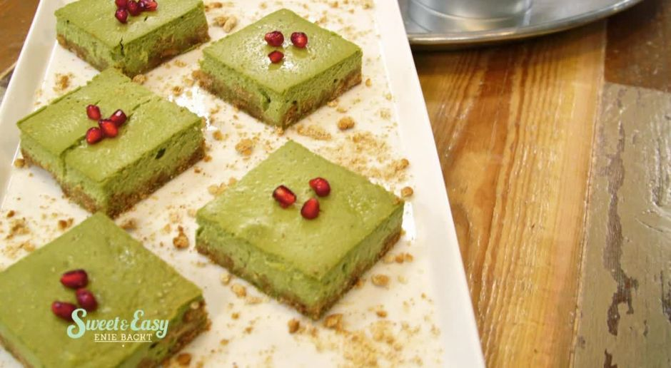 Sweet Easy Enie Backt Video Eckiger Matcha Cheesecake 7tv